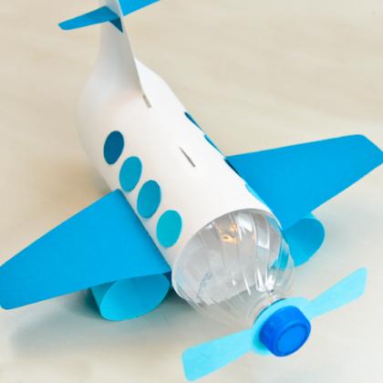 Aeroplane Making Using Paper For Kids