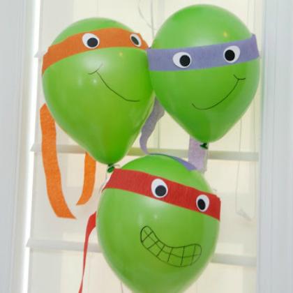 Teenage Mutant Ninja Turtle Party Ideas for Kids Ninja Balloon