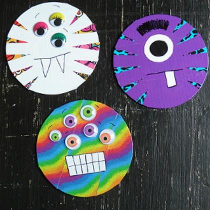 Crazy Monster Crafts for Kids Threatenig Eyes