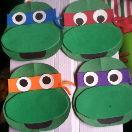 Teenage Mutant Ninja Turtle Party Ideas for Kids Ninja Mutant Faces