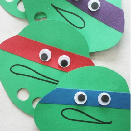 Teenage Mutant Ninja Turtle Party Ideas for Kids Turtle Mask