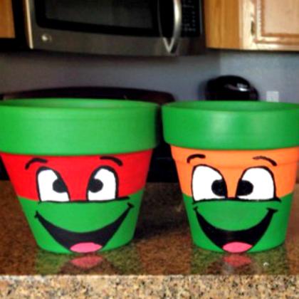 Teenage Mutant Ninja Turtle Party Ideas for Kids Mutant Pots