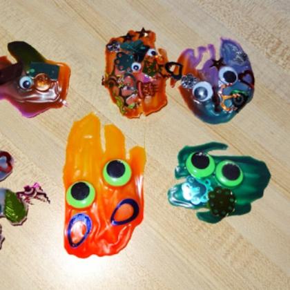 Crazy Monster Crafts for Kids Squash It