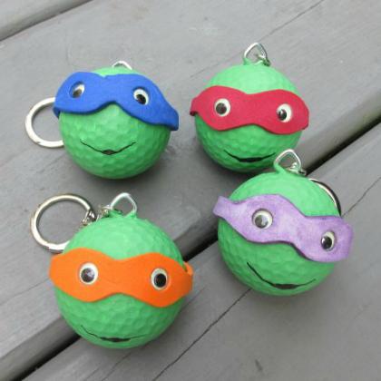 Teenage Mutant Ninja Turtle Party Ideas for Kids Ninja Key Chains