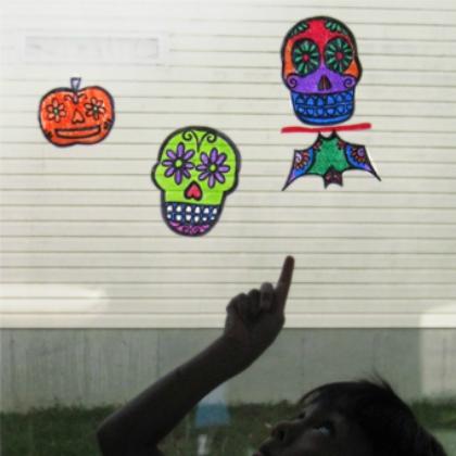 Skull Glass Painting