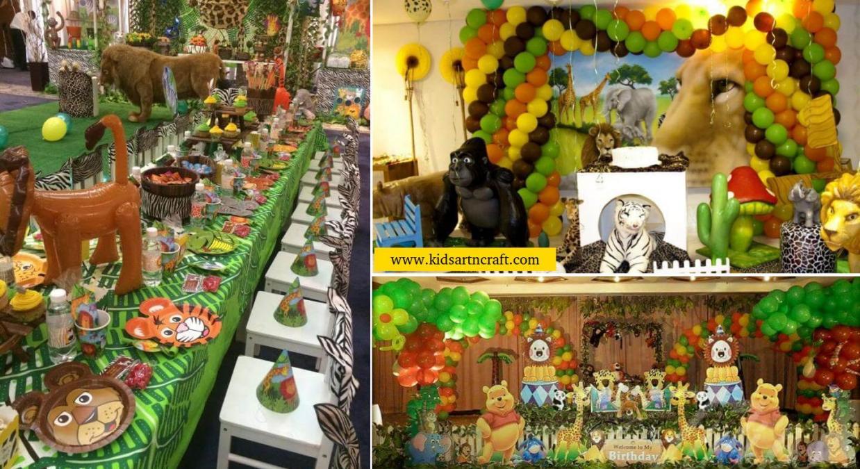 Jungle Safari Theme Birthday Party Ideas