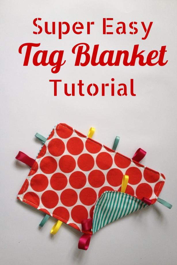 PERSONALISED DIY GIFTS Super Easy Tag Blanket