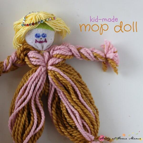 Cute Kid-Made Mop Doll