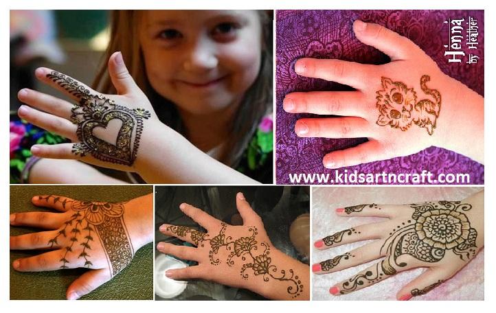 Mehndi Design For Kids : Mehndi designs for kids henna collection art