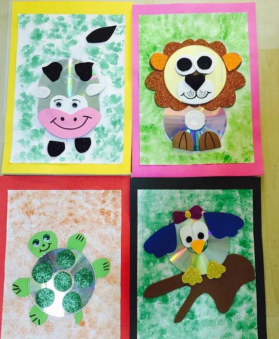 CD Disk Animal Crafts for Kids Fun Animal Crafts Made Up Of CD Disk
