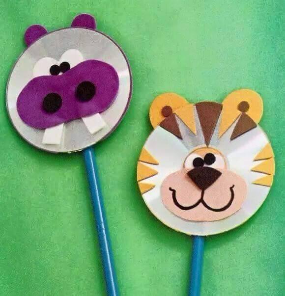 Fun Activities: Old CD Animal Crafts for Kids - Kids Art ...