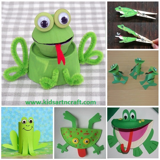 20 Simple And Easy Frog Crafts For Kids To Make Kids